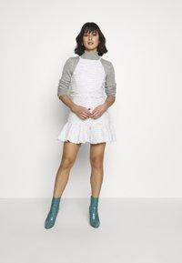 Miss Selfridge Petite - BOUCLE PINNY DRESS - Day dress - ivory - 1