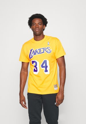 NBA LOS ANGELES LAKERS SHAQUILLE O'NEAL NAME AND NUMBER TEE - Article de supporter - gold