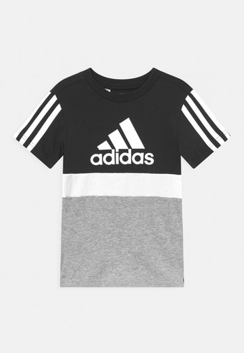 COLORBLOCK ESSENTIALS UNISEX - T-shirt con stampa - black/medium grey heather/white