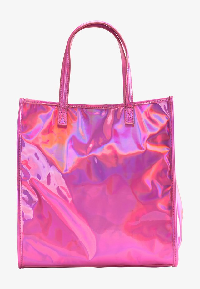 Shoppingväska - pink holo