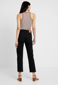 Levi's® - 501® CROP - Džíny Straight Fit - black heart - 2