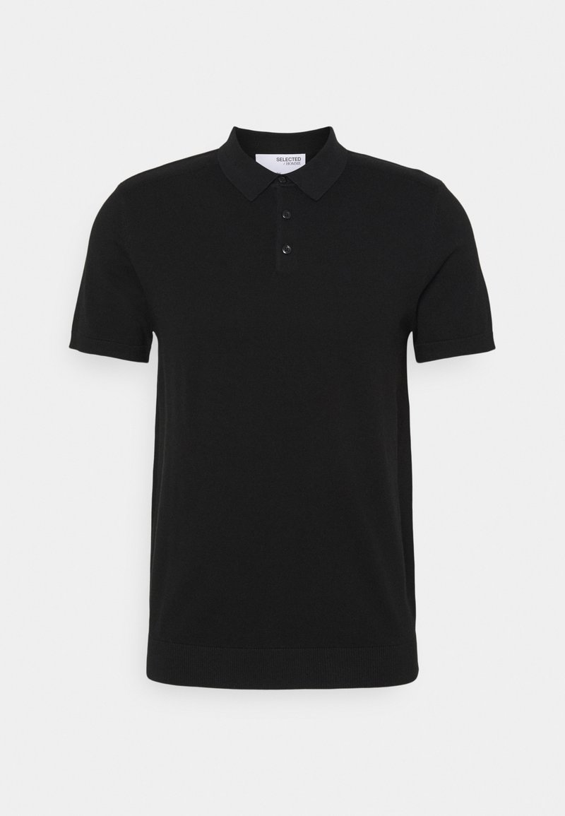 Selected Homme - SLHBERG - Polo shirt - black