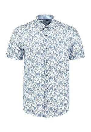 SHORT SLEEVE FLORAL PRINT - Camicia - white