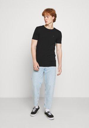 LOGO TEE 2 PACK - T-shirt basic - black