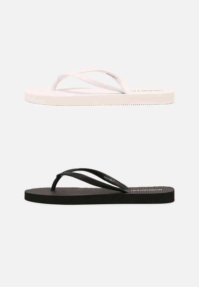 2 PACK - Flip Flops - black/white