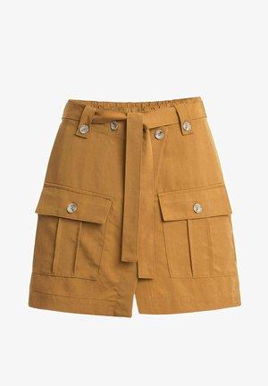 CATHY - Wrap skirt - gelb