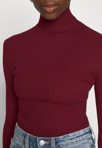 Missguided - ROLL NECK  - Trui - burgundy - 5