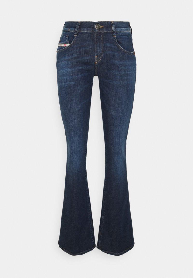 Diesel - D-EBBEY - Bootcut jeans - denim blue