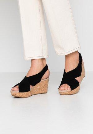 ANNADEL PARKER - Sandály na platformě - black