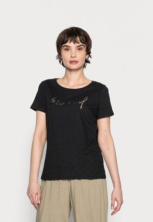 SOI MIND - Print T-shirt - black