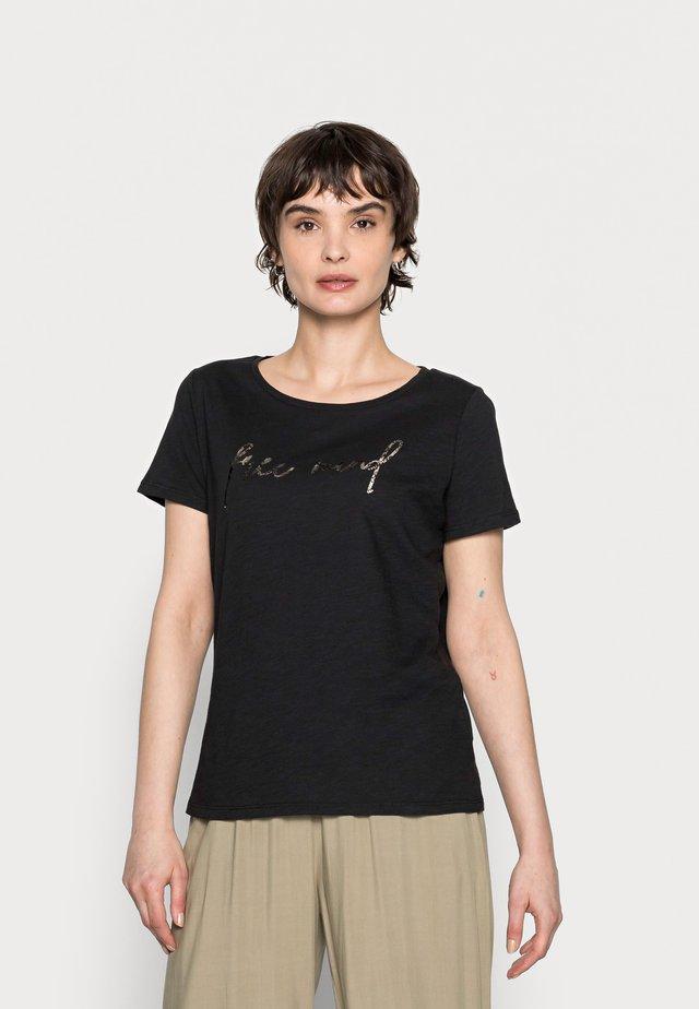 SOI MIND - T-shirt imprimé - black