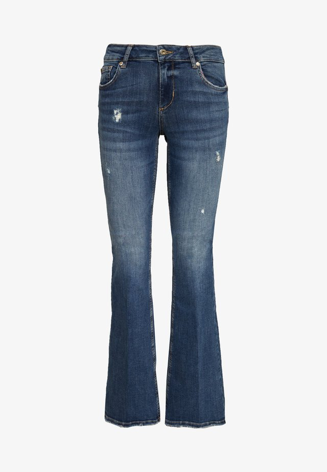 BEAT REG - Jean bootcut - blue avatar wash