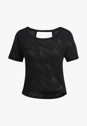 BURNOUT T-SHIRT - Print T-shirt - black