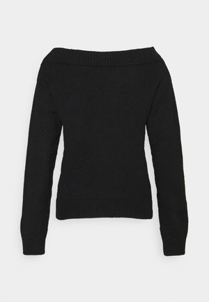BOAT NECK JUMPER - Jumper - black