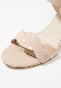 Anna Field - LEATHER HEELED SANDALS - Sandals - nude - 2