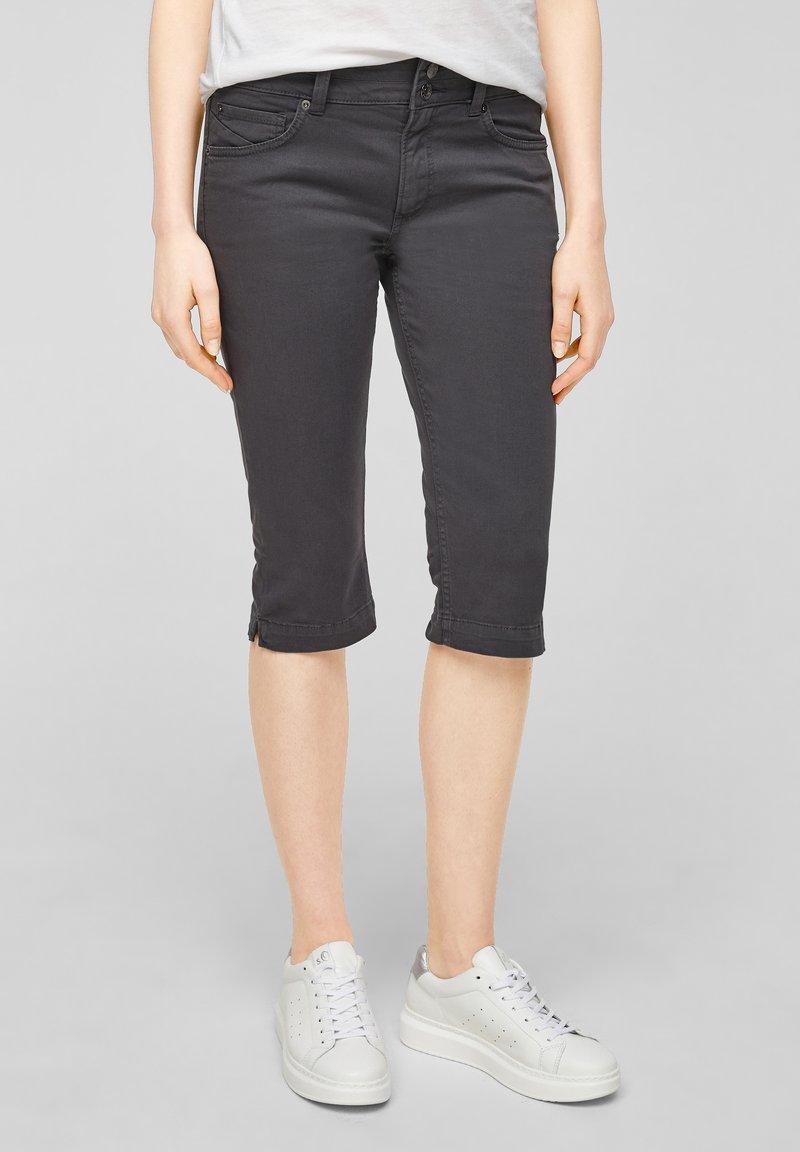 QS by s.Oliver - Denim shorts - dark grey