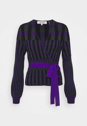 EMILY WRAP - Cardigan - purple/green