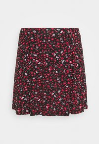 Even&Odd Curvy - 2 PACK - A-line skirt - black/multi coloured