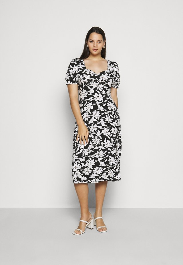 CURVE RUCHED FLORAL MIDI - Day dress - multi coloured