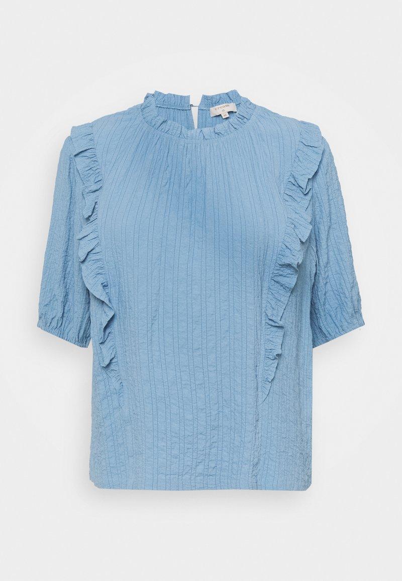 Cream - ENGA BLOUSE - Blouse - dusty blue