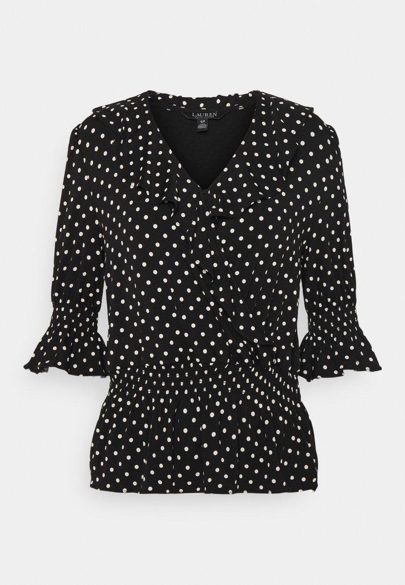 Lauren Ralph Lauren - Long sleeved top - black/white