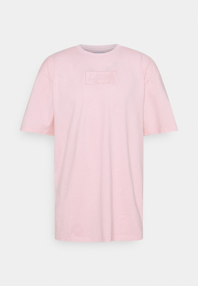 SMALL SIGNATURE BOX WASHED TEE UNISEX - T-shirt con stampa - rose
