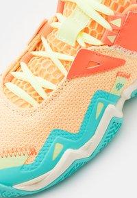 Jordan - WESTBROOK ONE TAKE UNISEX - Basketball shoes - light liquid lime/pink blast/black/amarillo/psychic purple/aurora green - 5