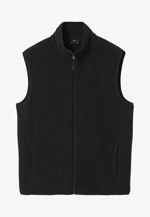 MIT REISSVERSCHLUSS - Waistcoat - schwarz