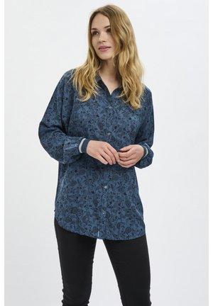 Button-down blouse - midnight marine / black flower