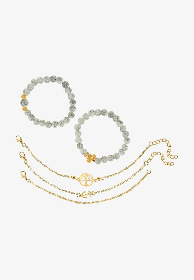 5 PACK - Armband - goldfarben