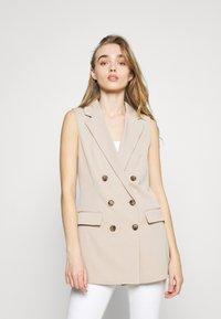 ONLY - ONLIVY WAISTCOAT  - Waistcoat - beige - 3