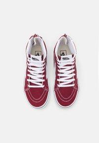 Vans - UY SK8-HI ZIP - High-top trainers - pomegranate/true white - 3