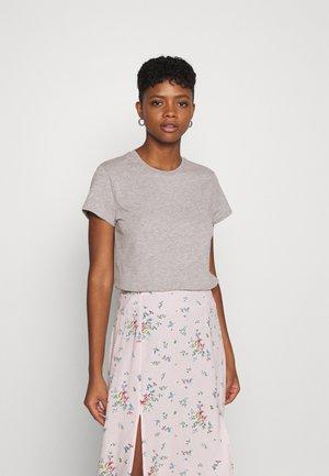 SLIM FIT TEE - T-shirt basic - grey mele
