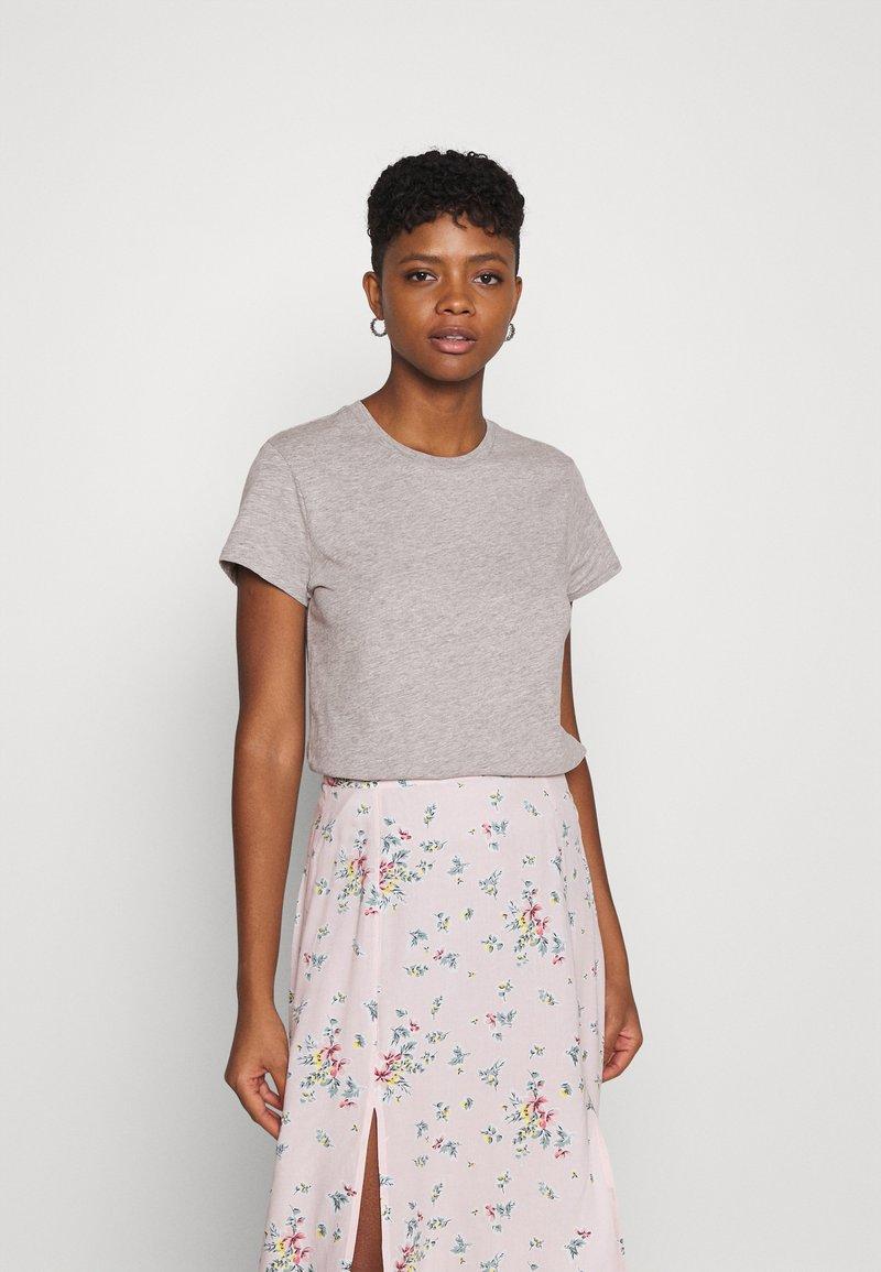 Lee - SLIM FIT TEE - Basic T-shirt - grey mele