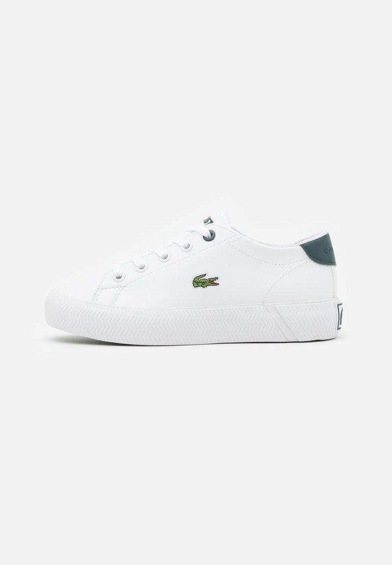 Lacoste - GRIPSHOT UNISEX - Trainers - white/dark green