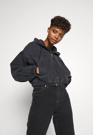 PATCH POCKET JACKET - Džínová bunda - wash black