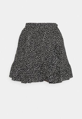 VMDICTHE SHORT WRAP SKIRT - Wrap skirt - black