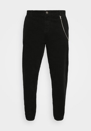 CROPPED PANTS - Broek - black