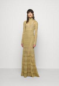 Hervé Léger - GOWN - Occasion wear - gold-coloured - 0