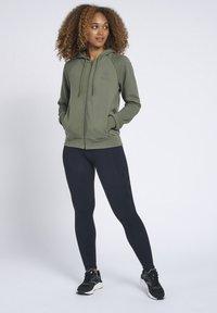 Hummel - HMLNONI  - Zip-up sweatshirt - beetle - 1