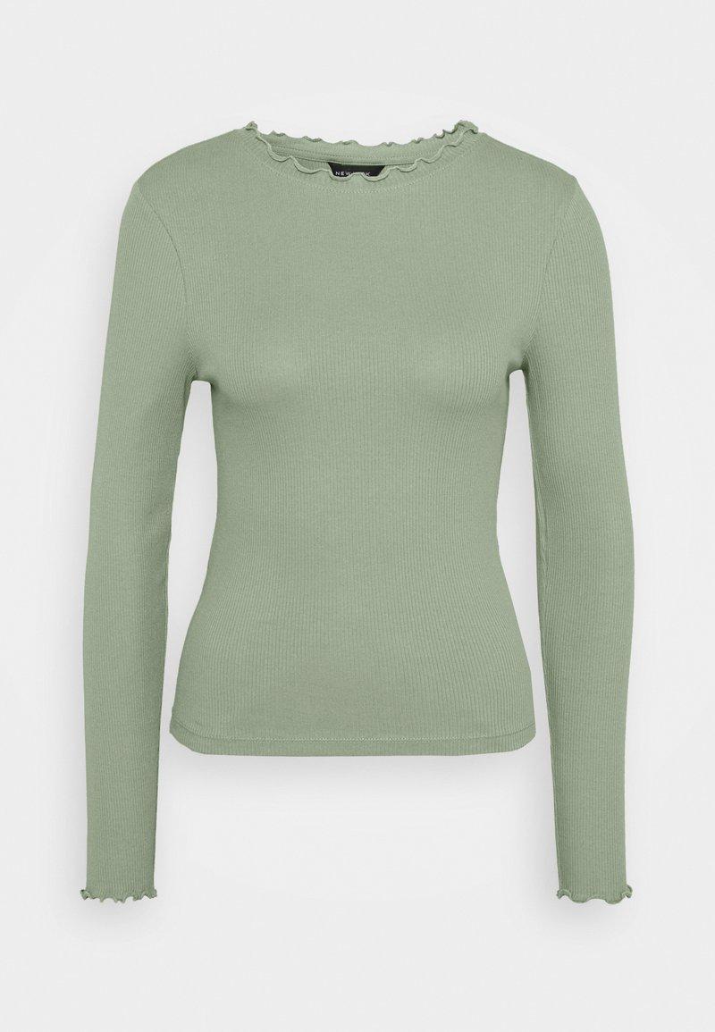 New Look - BABYLOCK TEE - Long sleeved top - light green