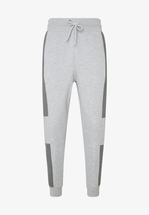 M NSW NIKE AIR PANT FLC - Träningsbyxor - dark grey heather/charcoal heather/white