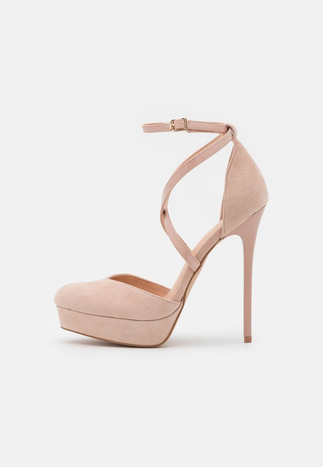 LEATHER - High heels - light pink