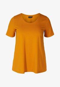 Zizzi - Basic T-shirt - brown - 3