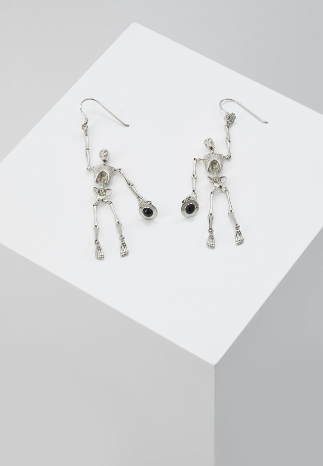 SKELETON EARRINGS - Korvakorut - palladium
