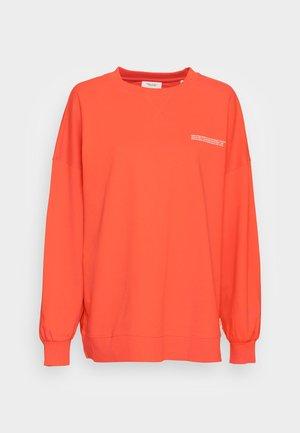 WIDE SLEEVES CREWNECK - Sweatshirt - fire red