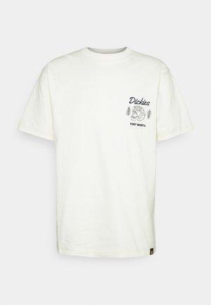 HALMA TEE - Camiseta estampada - ecru
