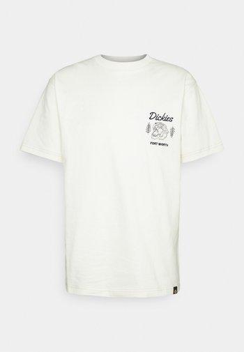 HALMA TEE - Print T-shirt - ecru