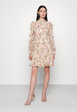 GARLAND FLORA RUFFLE MINI DRESS - Day dress - strawberry icing