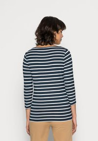 Tommy Hilfiger - HERITAGE BOAT NECK TEE 3/4 - Long sleeved top - midnight/classic white - 2